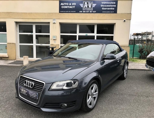 AUDI A3 CABRIOLET 2.0 TDI 140 DPF AMBITION LUXE STRONIC 6 Du 07.05.2009 – 123 200KMS – 12 790€