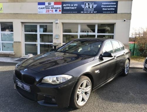 BMW SERIE 5 535 XDA 313 CH SPORT DESIGN XDRIVE PACK M F10 Du 28.03.2012 – 93 000 KMS – VENDU