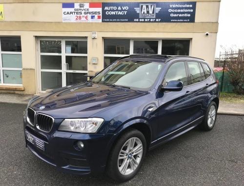 BMW X3 XDRIVE20DA 184CH SPORT DESIGN PACK M Du 28.03.2012 – 167 500 KMS – VENDU