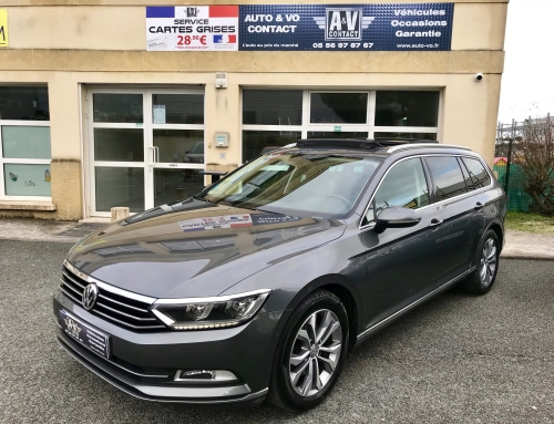 VOLKSWAGEN PASSAT SW 2.0 TDI 150 BLUEMOTION TECHNOLOGY CARAT EDITION DSG6 Du 16.12.2015 – 119 500 KMS – VENDU