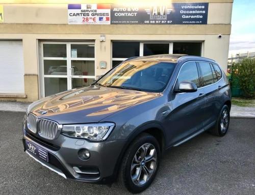 BMW X3 F25 XDRIVE20DA 190 XLINE XDRIVE Du 27.04.2016 – 33 500 KMS – 34 790 €-VENDU