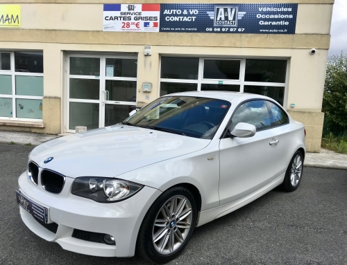 BMW SERIE 1 COUPE E82 120D 177 SPORT DESIGN PACK M Du 26.02.2010 – 180 100KMS – 8 990 €