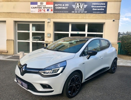 RENAULT CLIO IV TCE 120 ENERGY EDITION ONE EDC Du 30.08.2016 – 44 000 KMS – 13 490€
