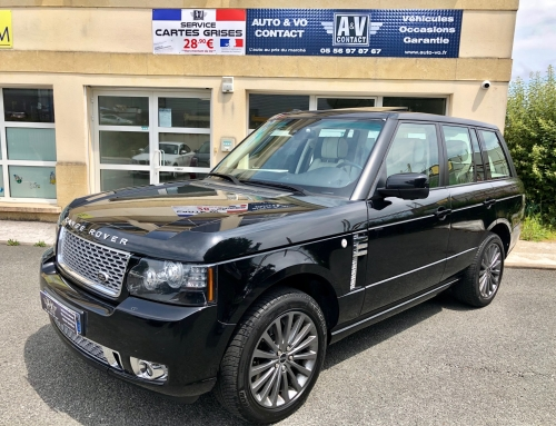LAND ROVER RANGE ROVER 4.4 TDV8 VOGUE MARK X Du 22.02.2012 – 156 000 kms – 26 990 €