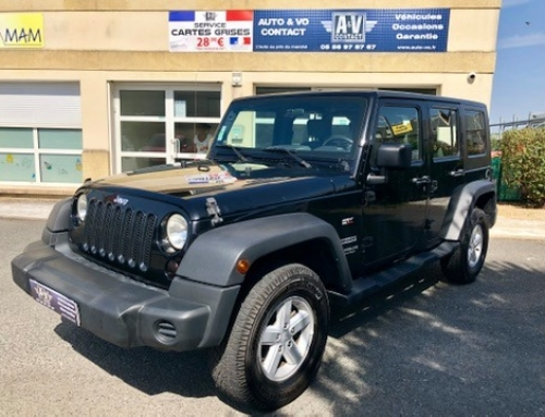 JEEP WRANGLER 2.8 CRD UNLIMITED SPORT Du 21.09.2007 – 116 500 kms – 19 990 €€