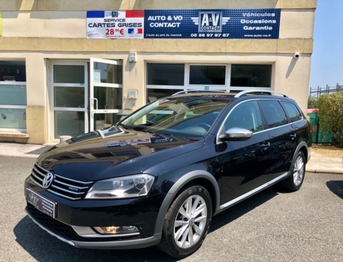 VOLKSWAGEN PASSAT ALLTRACK 2.0 TDI 177 BLUEMOTION TECHNOLOGY 4MOTION DSG6 Du 20.03.2013 – 118 400KMS – 14 490€
