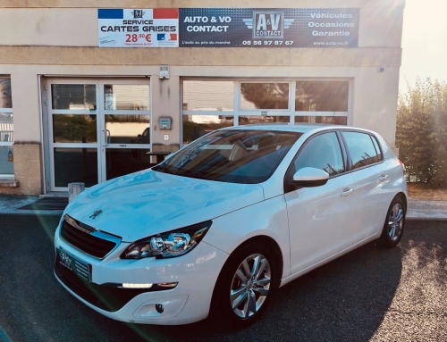 PEUGEOT 308 1.6 HDI 92 BUSINESS PACK 5P Du 16.04.2014 – 107 990 KMS – 9 490 €