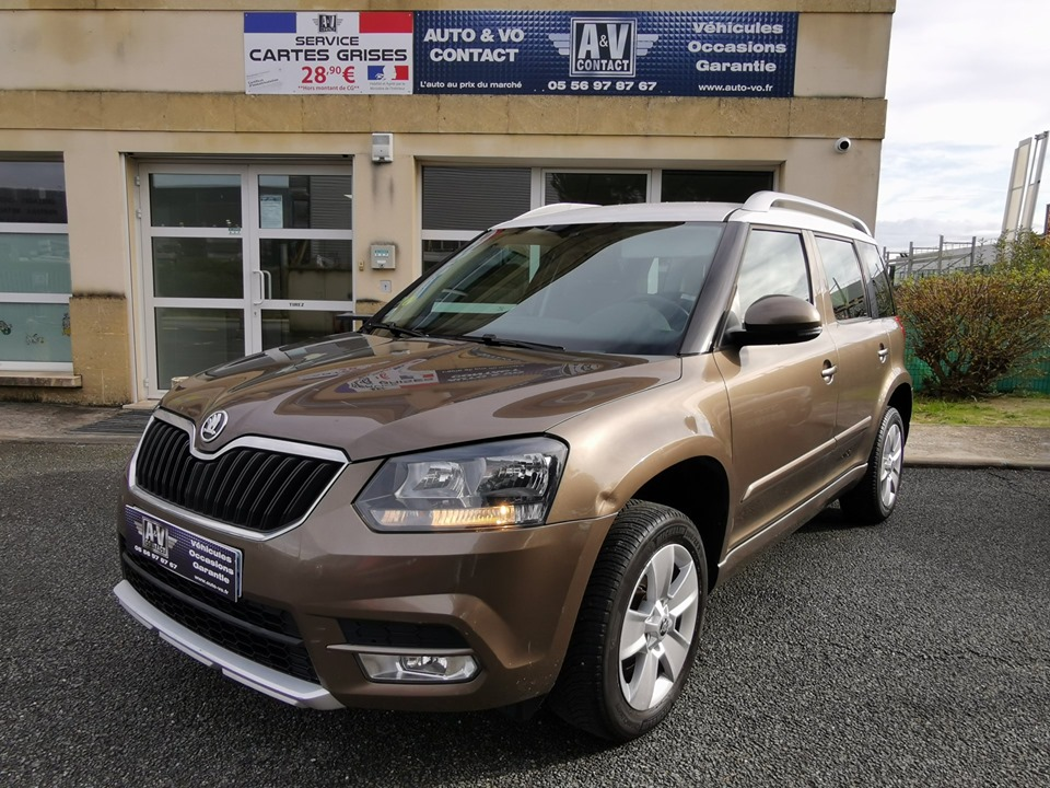 SKODA YETI 1.6 TDI 105 CR GREEN TECH ACTIVE DSG du 03.04.2014 – 150 600 KMS – 10 290 €