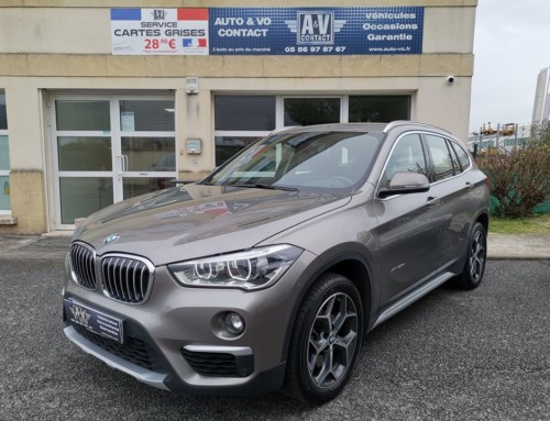BMW X1 F48 XDRIVE 20DA 190CH BVA8 XLINE Du 25.08.2017 – 72 200 KMS – VENDU