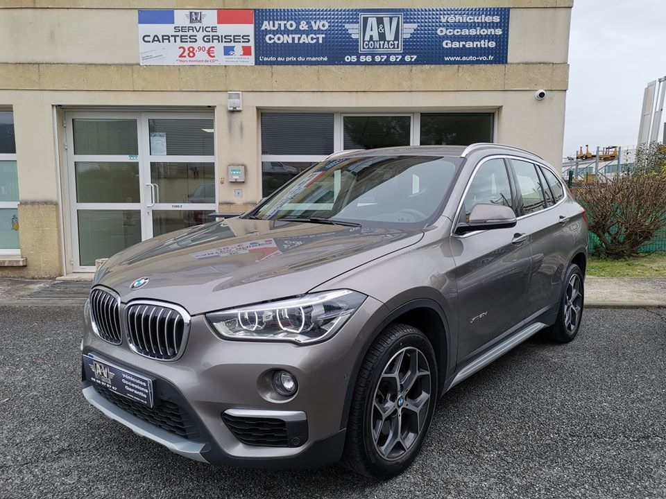 BMW X1 F48 XDRIVE 20DA 190CH BVA8 XLINE Du 25.08.2017 – 72 200 KMS – 25 990 €
