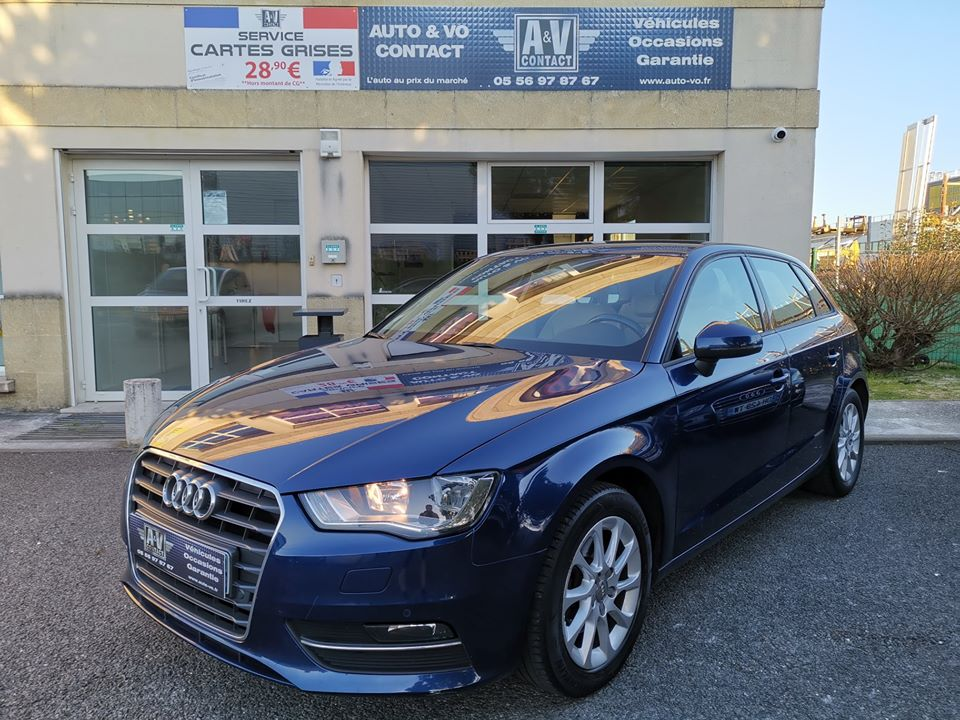 AUDI A3 SPORTBACK 2.0 TDI 150 ch AMBITION LUXE Du 27.02.2013 – 180 200 KMS – 10 490 €