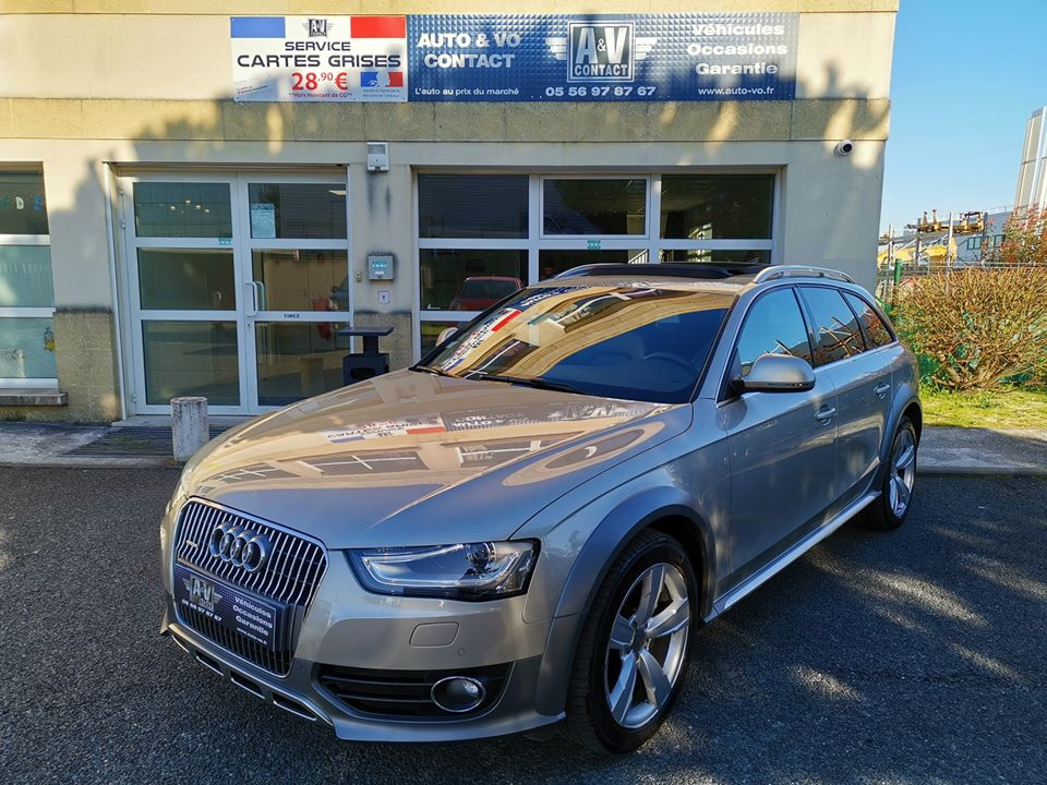 AUDI A4 ALLROAD 3.0 V6 TDI 245 DPF S TRONIC AMBITION LUXE QUATTRO du 07.11.2013 – 141 000 kms – 19 490 €