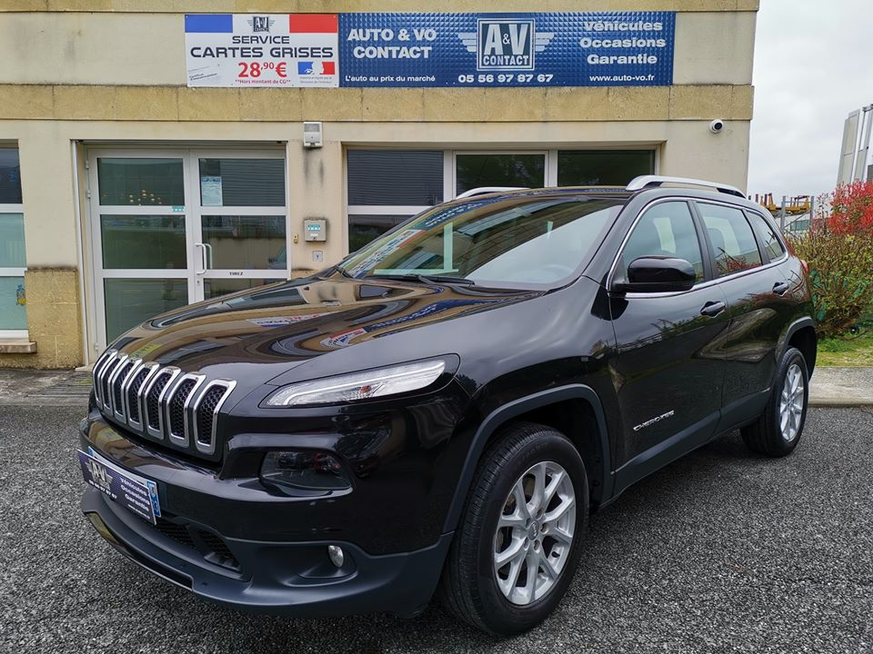 JEEP CHEROKEE 2.0L MULTIJET 170 4×4 ACTIVE DRIVE LIMITED BVA Du 29.06.2015 – 87 500 KMS – 17 490 €