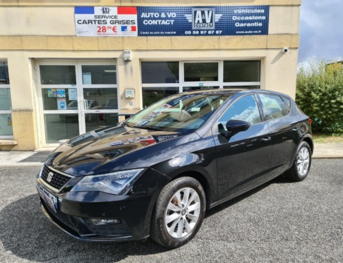 SEAT LEON 1.6 TDI 115 STYLE BUSINESS BVM Du 16.01.2018 – 117 750 kms – 11 990 €
