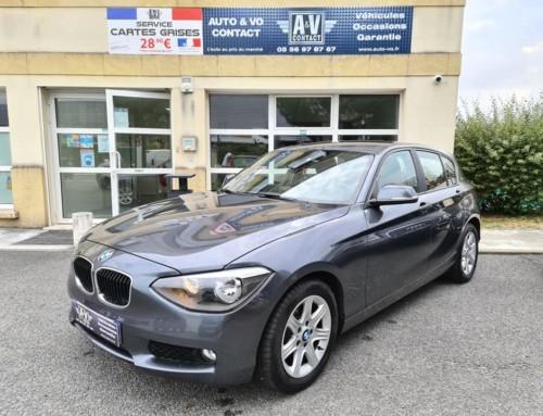 BMW SÉRIE 1 5P 116i 136CH PREMIÈRE BVA Du 22.03.2012 – 123 450 KMS – 12 990 €