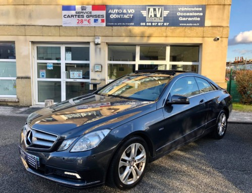 MERCEDES CLASSE E 250 CDI COUPE BLUE EFFICIENCY EXECUTIVE A Du 19.03.2010 – 100 980 KMS – VENDU