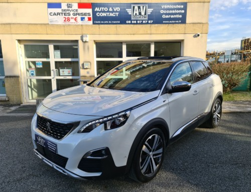 PEUGEOT 3008 2.0 BlueHDI 180 S&S EAT8 GT Du 21.03.2019 – 72 050 Kms – 27 990 €